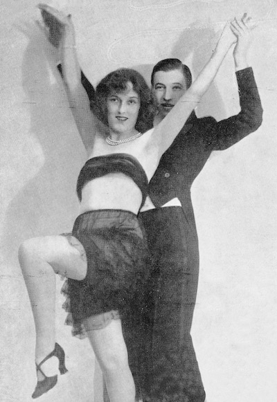 Harry Cahill and Fay Harcourt in mid-1925 dancing in Paris