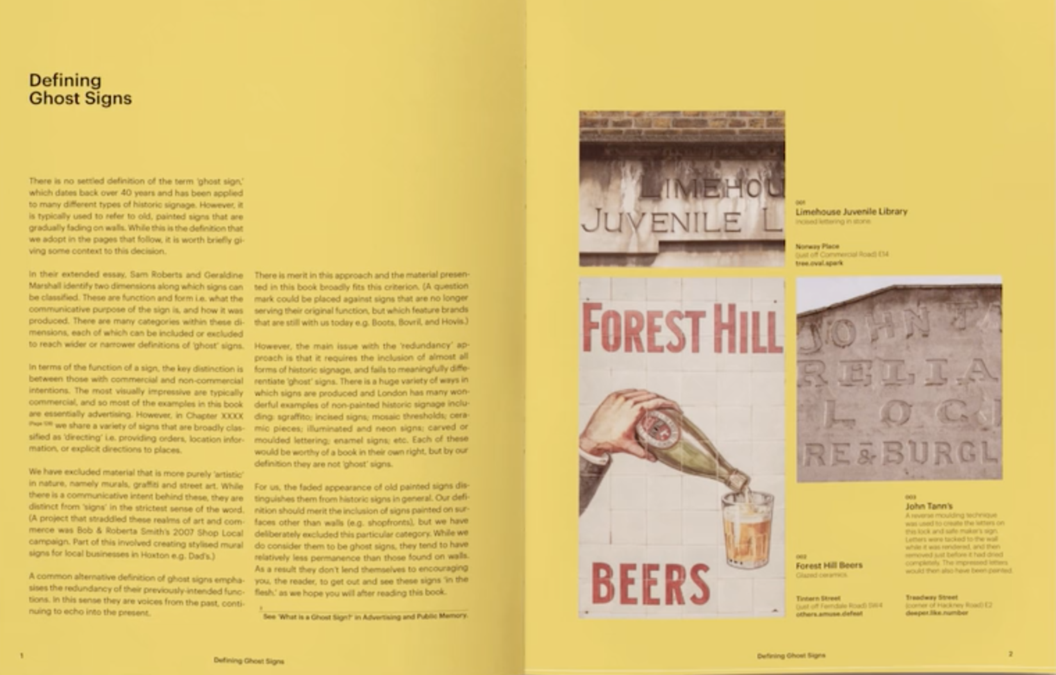 Spread from the book Ghost Signs A London Story